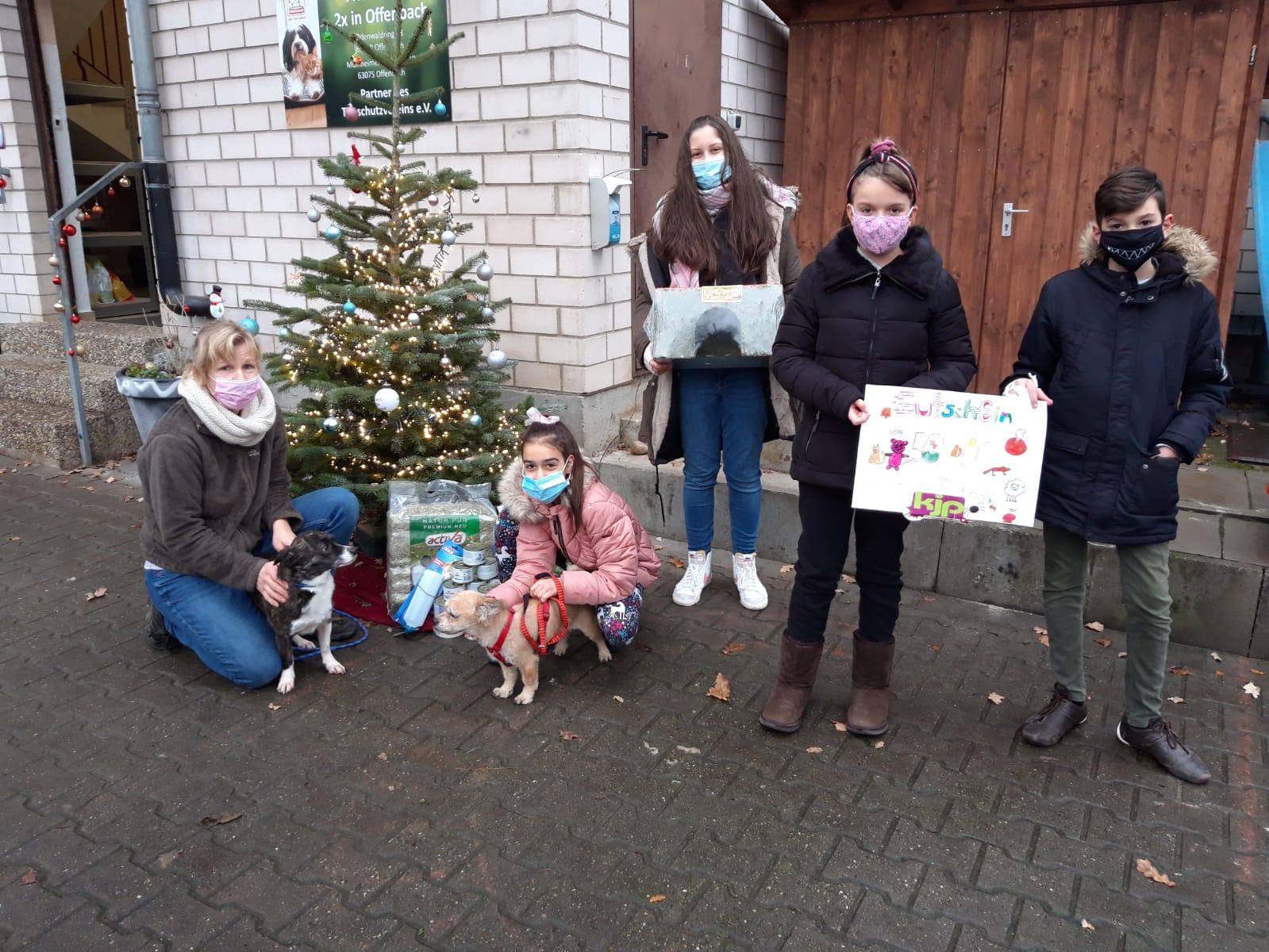 Kinderfraktion spendet an Tierschutzverein und Integrationsprojekt des Freiwilligenzentrums Offenbach