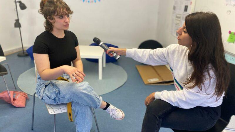 Vorstandsmitglieder im Interview mit dem Hessischen Rundfunk