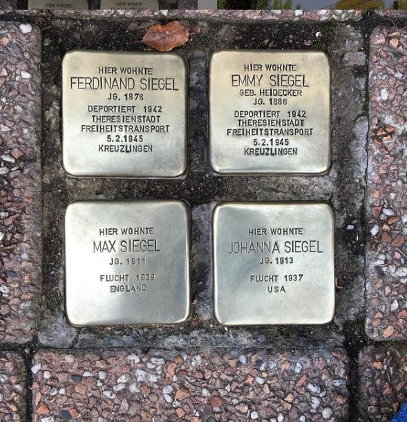 MITMACHEN: Stolpersteine polieren in Offenbach – Stolpersteine für Max und Johanna Siegel